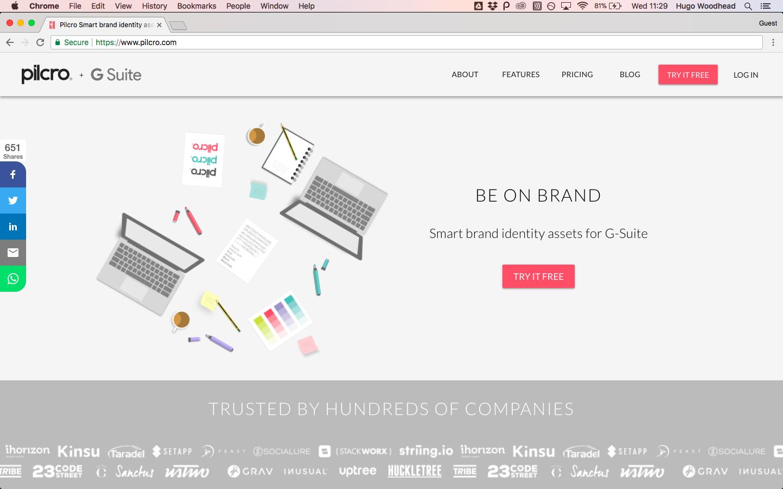 pilcro homepage