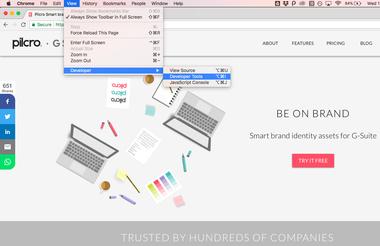 open developer tools